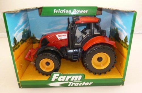 Frizione trattore alimentato rosso fattoria di 22 x 12 cm con apertura cofano (HL64)