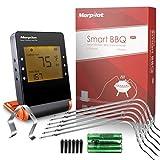 Termometro BBQ 6 Sondes in Inoxmorpilot Termometro Cucina Bluetooth Display…