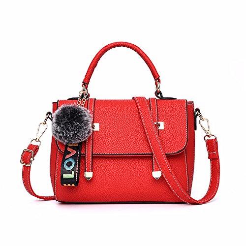 GUANGMING77 _ Borsetta Crossbody Bag Borsetta,Singolo Nero Con Spallamento Guan Fang single shoulder red