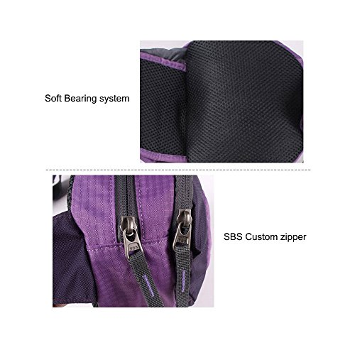 uhbgt Running Taille Tasche, Reisen Tasche Joggen Reißverschluss Taille Tasche für Klettern Outdoor Laufen Camping Wandern Violett