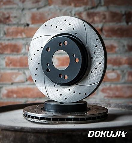 Belüftete Sport - Bremsscheiben HINTEN für Volkswagen Golf IV Variant (2 Stück für die Hinterräder) DOKUJI RS in Spitzenqualität.