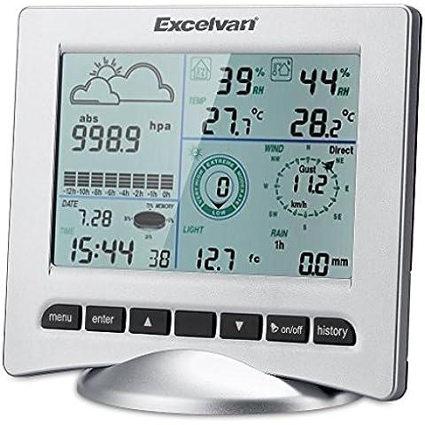 Excelvan WH3080 Wireless Colore Stazione Meteo Meteorologiche con caricati Internet plus UV, Previsioni, Temperatura, (3 Sensori Remoti)