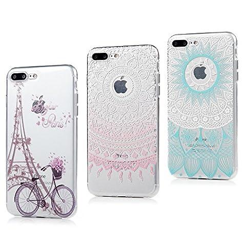 3 x Coque iPhone 7 Plus, Badalink Case Housse Bumper