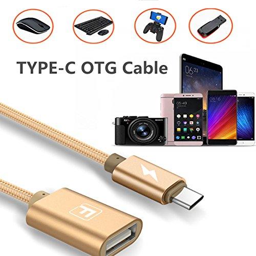 Superior Typ C Adapter, ZRL USB C zu USB 2.0 Ein weibliches Adapterkabel, USB-C OTG Kabel, für neues Macbook und mehr Typ C Geräte, 0.5ft (0.5' Kabel)