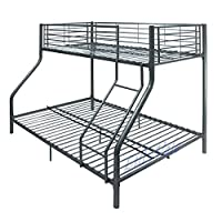 Triple Sleeper 3 Bunk Bed - Childrens Standard Single And Full Double Bed