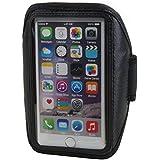 Brazalete deportivo de neopreno para smartphone móvil Jiake S7004,7–5,1pulgadas brazo bolso móvil Funda Case Cover negro