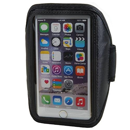Neopren Sport Armband für Hisense HS-U610 4,7 - 5,1 Zoll Armtasche Hülle Tasche Etui Case Cover schwarz