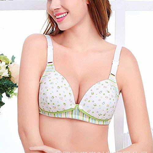 Coton Non-armature Comfort maternit¨¦ de soins infirmiers de Surker femmes Bra CL02588 Green2