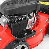 HECHT Benzin-Rasenmäher 40 Benzin-Mäher (40,6 cm Schnittbreite, 3-fache Schnitthöhenverstellung 25-70 mm, 40 L Fangsack) -