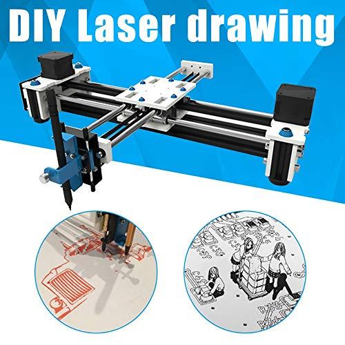 SISHUINIANHUA Mini XY 2 Achsen-CNC-Plotter Pen USB DIY Ziehmaschine Gravierbereich 280X200mm Desktop-Zeichnung Roboter