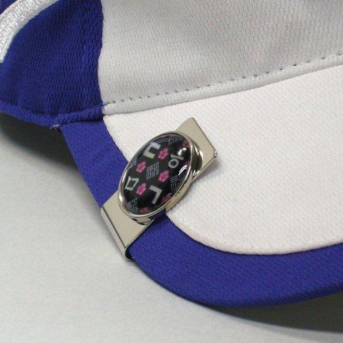Perlmutt Koreanisch Alphabet Hangeul Design Münze aus Metall Magnetischer Edelstahl schwarz Pro Hat Clip Golf Ball Marker Kappe Geld Clip Geschenk-Set (Geld-clip Golf)