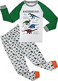 """Babygp """"Dinosaurier 2 Stücke Anzug der Schlafanzüge von Mädchen und Jungen mit 100% Baumwolle (134(Herstellergröße:8-9Jahre), Grauer Dinosaurier)"""