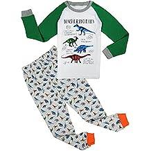 """Babygp dos conjuntos de pijama de """"dinosaurios"""" para los niños de algodón 100% (2-8 años)"""