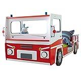 ZEARO Autobett Kinderbett Feuerwehrauto SOS Feuerwehrbett Spielbett Kinderzimmer