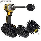 Scrub Brush Set all Purpose Automotive Scrub Brush Kit with Extension Confezione da 4 Drill Brush Power Scrubber