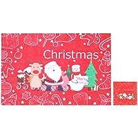 BESTOYARD Manteles de Navidad Cuchillo Tenedor Taza Posavasos a Prueba de Calor Tapetes de Mesa Fiesta de decoración de Escritorio Suministros (Red Santa)