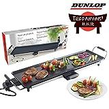 Dunlop Teppan-Yaki - Piastra per Barbecue, 87 x 23 cm, 1800 Watt