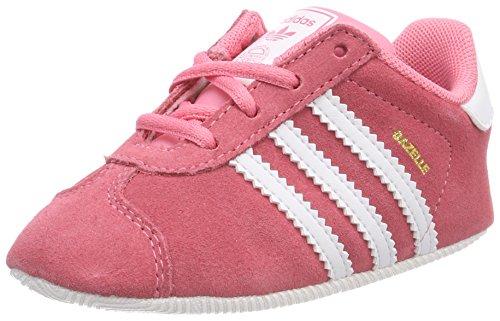 adidas Unisex Baby Gazelle Sneaker, Pink (Chalk Pink/Footwear White), 18 EU