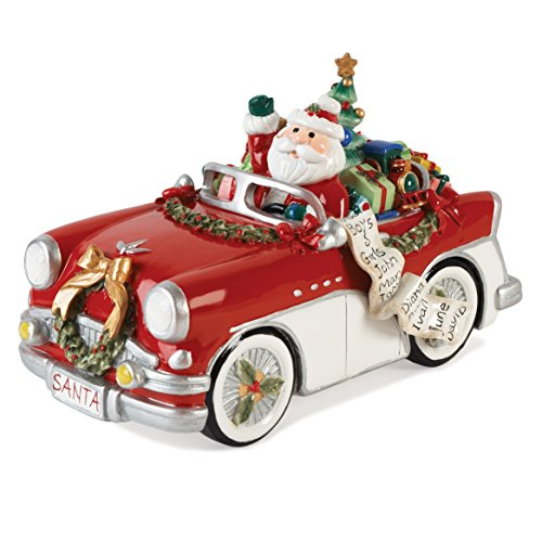Fitz and Floyd Merry & Bright Kollektion, Santa in Auto 'Here Comes Santa Claus' Musical Figur -