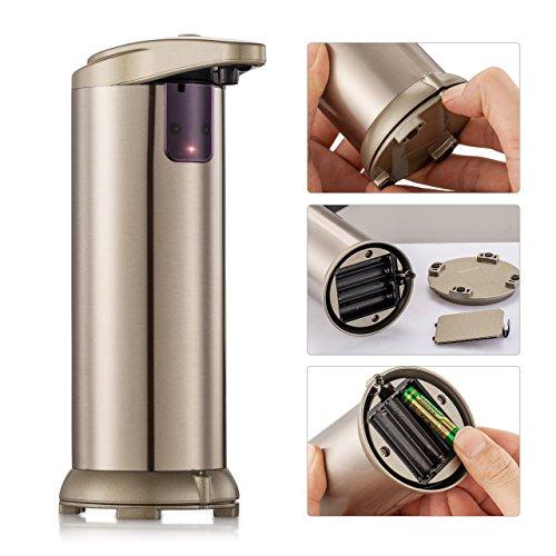 Dispensador de jabón  liquido automático Dispensador  de acero inoxidable dispensador de jabón automático con sensor infrarrojo sin contacto para de Baño  Cocina