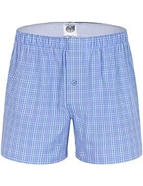 Yuanu Hombre Pantalones de Pijama Algodón Pantalones de Pijama Rayas Shorts Ropa de dormir
