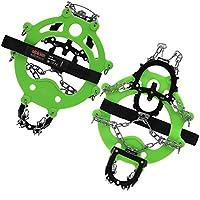 ALPIDEX Crampones de Garra SNOWDEX - Cadenas de Nieve para Zapatos en Distintos tamaños - Garras para Zapatos con 12 Dientes de Acero Inoxidable, Tamaño:XL, Color:Green