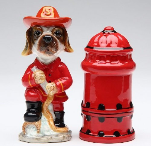 Appletree Fire Fighter Salt and Pepper Shaker Set by Appletree Fire Salt Shaker