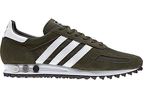 adidas Herren LA Trainer OG Fitnessschuhe, Grün (Carnoc/Ftwbla/Negbas), 46 2/3 EU (Adidas Leder-trainer)