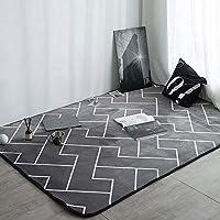WNSS9 European Minimalist Modern Bedroom Full Carpet Living Room Coffee Table Sofa Large Carpet Bedside Blanket Non-Slip Mat Rectangle Creative Maze Pattern Rug for Children Play(Size : 140x190cm)