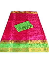 Nirja Creation Cotton Silk Saree With Blouse Piece (NC-OD-LTS2-3_Pink_Free Size)