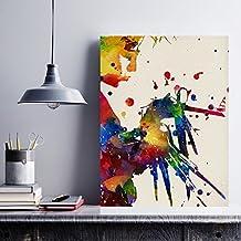 Lámina para enmarcar Eduardo Manostijeras estilo acuarela. Láminas decorativas para pared. Laminas para enmarcar. Papel 250 gramos alta calidad