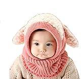 Covermason Winter Kinder Baby Jungen Mädchen Hut Kapuzenschal Kappe Mützen (Rosa)