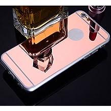JUNGEN Espejo Phone Case, Material de Acrílico Funda de Teléfono para iPhone 6 / 6S - Color Oro Rosa
