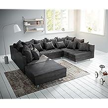 Couch Clovis Modular Ecksofa Sofa U Modulsofa Anthrazit Mit With Hocker