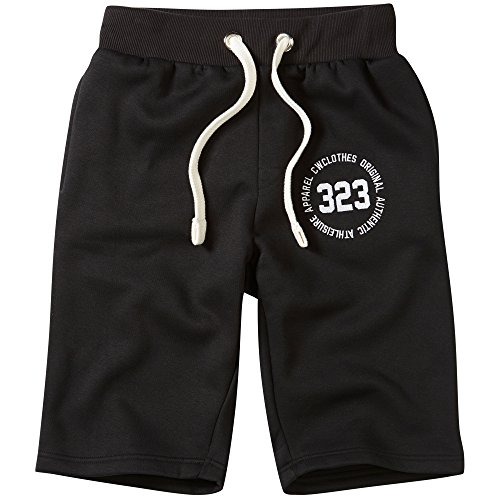 Charles Wilson Essentials Logo Herren Jogginghose Jersey-Stoff (XX-Large, Black)