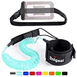 Unigear Surfboard Leash, 7mm&10Ft Aufgerollte TPU Paddle Leash für Stand up Paddle Board Surfboard mit wasserdichte...