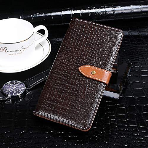 BELLA BEAR Case für Leagoo Z7,Leder Brieftasche Geldbörse Halterung Funktion Weichem PU Material Phone Case Cover for Leagoo Z7 Hülle(Braun)