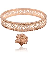 I Jewels Traditional Gold Plated Bangles For Women ADB126