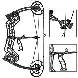 ZSHJG Archi Composti da tiro con L'Arco Kit Arco Compound 30-60lbs Regolabile Adulto Doppio Uso Palla in Acciaio Compound Bow Arco da Caccia