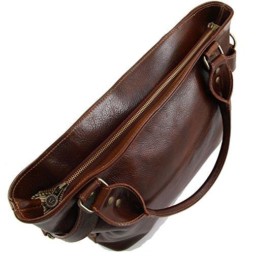 Tuscany Leather Ilenia Borsa a spalla Marrone Marrone