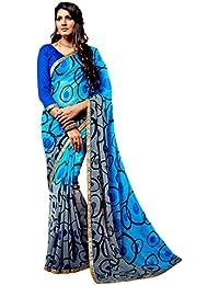 Nikki Fab Chiffon Saree (22781_Blue)