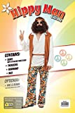Hippy Man Budget costume Adult Fancy Dress - 2