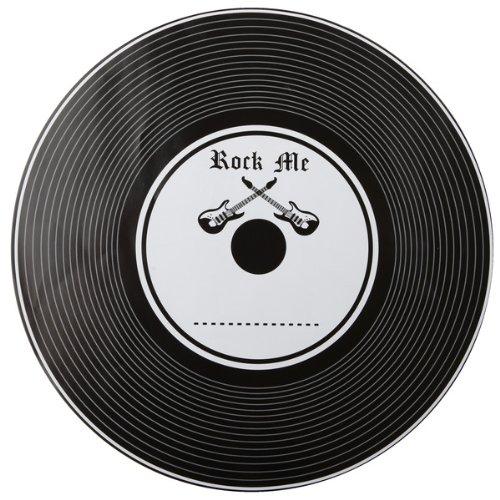 Rock and Roll, Tischunterlage in Schallplatten-Optik, 33,5cm, 6er Pack, für Rockpartys
