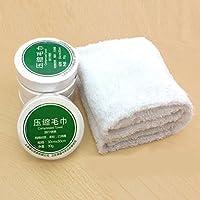 KJH21 - Toallas grandes reutilizables comprimidas de algodón portátil para hoteles, camping, viajes,