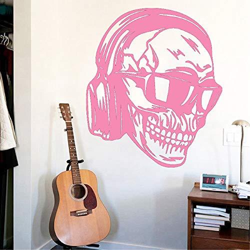 guijiumai Adesivi murali con Teschio Fresco Adesivo murale Accessori Decorazione per la casa Soggiorno Adesivi Camera da Letto Murali 5 XL 58cm X 67cm