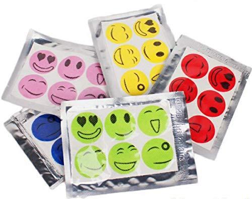 KAIMENG Effektive Mückenschutz Aufkleber Natürlich Deet Kostenlose Anti-Moskito-Tabletten Ideen für Kinder Schwangere Frauen und The Elder 36 Stück(zufällige Farben) -