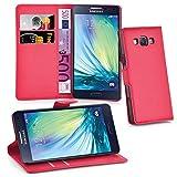 Cadorabo Hülle für Samsung Galaxy A3 2015 (5) in Karmin Rot