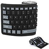 Faltbare Silikon-Tastatur flexible Tastatur weiche wasserdichte aufrollbare...