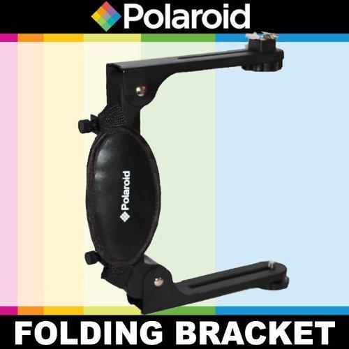 Polaroid Dual faltbare Blitzschiene für die Canon Digital EOS Rebel T4i (650D), T3 (1100D), T3i (600D), T1i (500D), T2i (550D), XSI (450D),...