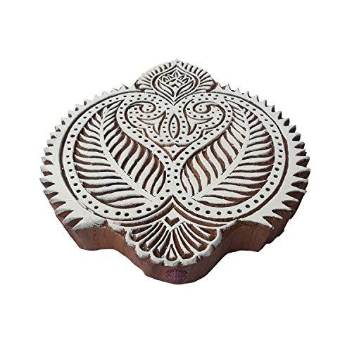 Royal Kraft Ethnisch Drucken Stempel Groß Paisley Design Großer Holz Blöcke - Holz Ton Block